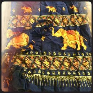 Vintage longline wrap skirt